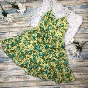 Jane Ashley Dresses - Jane Ashley Green & Blue Floral Dress